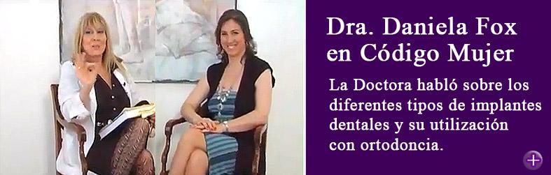 """La Doctora Daniela Fox fue entrevistada en el programa """"Código Mujer """" que se emite por el canal Metro con la conducción de la Doctora Cristina Sciales y Mora Furtado."""